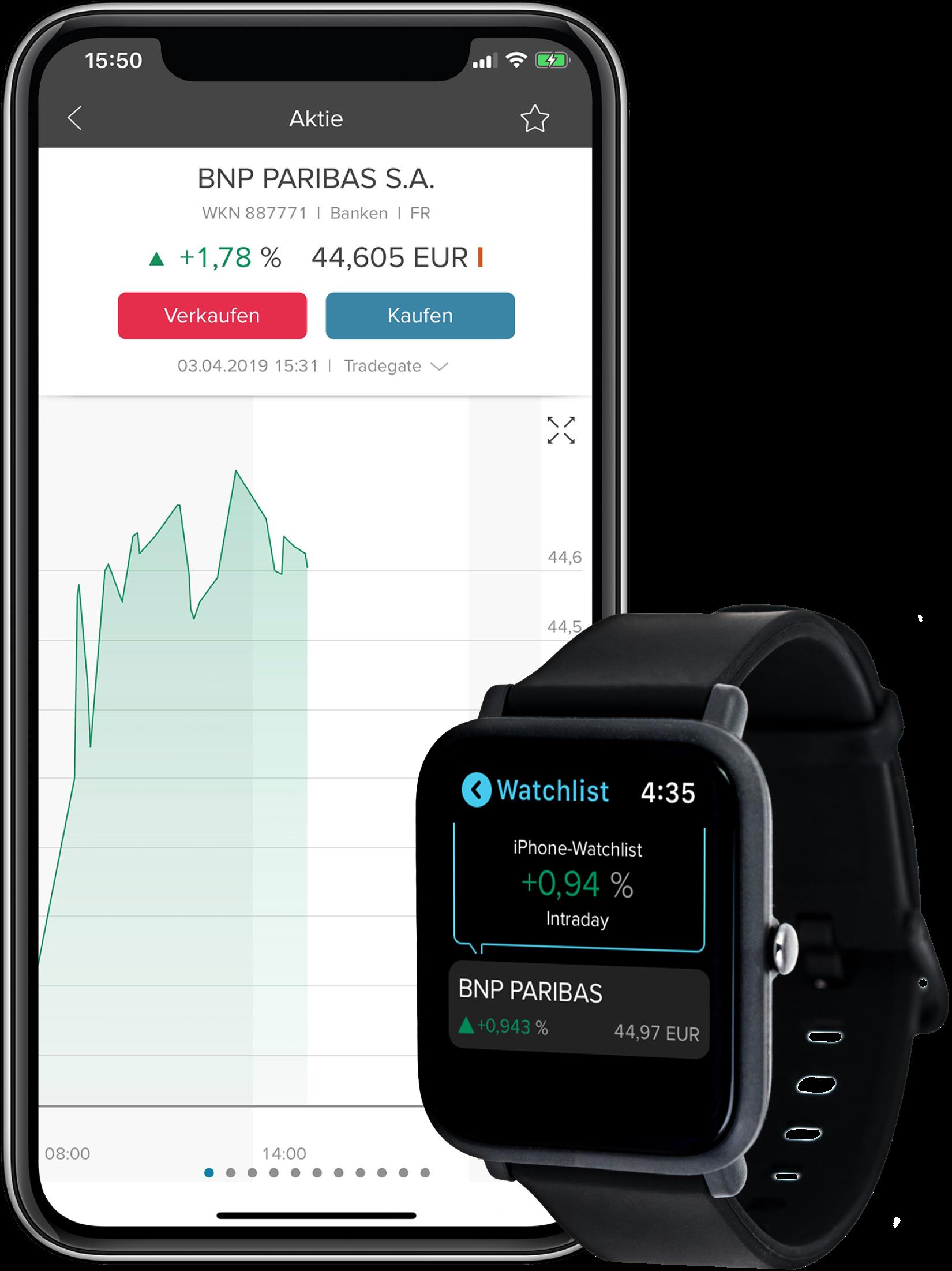 Smartphone-und-Smartwatch