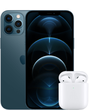iPhone 12 Pro Max mit Airpods