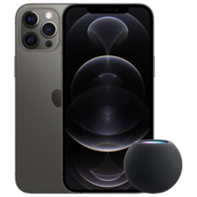 Apple iPhone 12 Pro Max mit HomePod mini