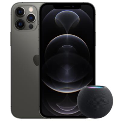 Apple iPhone 12 Pro mit HomePod mini
